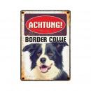 Großhandel Tücher & Schals: Schild Blech Border Collieollie
