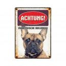Pajzs Blech Französische Bulldog