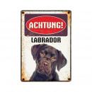Großhandel Dessous & Unterwäsche:Schild Blech Labrador