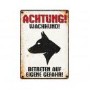 groothandel Tuin & Doe het zelf: Schild Blech Wachhund Profil