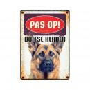 Plattenansicht des Deutschen Schäferhundes