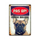 Plate of French Bulldog
