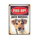 Plate Can Jack Russell