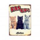 groothandel Tuin & Doe het zelf:Bord Blik Katten