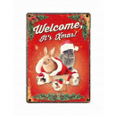 Jel fém karácsony nyulak és tengerimalacok