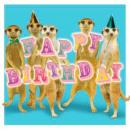 négyzet kártya Meerkats Születésnap