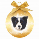 Christmas ball Border Collieollie