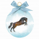 Christmas ball horse jumping