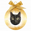 Christmas ball Black Cat