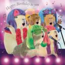 Szögletes Card Guinea Pigs Karaoke