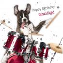 négyzet kártya Drummin Dog