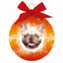 Karácsonyi dísz francia bulldog