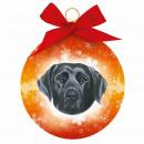 Fekete Labrador karácsonyi dísz