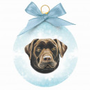 wholesale Decoration: Christmas ball Labrador Chocolate