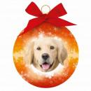 Karácsonyi dísz Golden Retriever