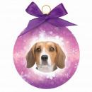 Beagle karácsonyi dísz