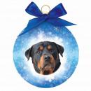 Karácsonyi dísz Rottweiler