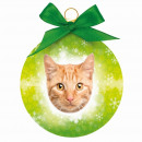 Christmas ball Red Tabby Cat
