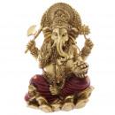 grossiste Jardin et bricolage:Ganesh or et 16cm Rouge