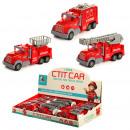 grossiste Jouets: Pousser Pull Back Toy - Camion de pompier