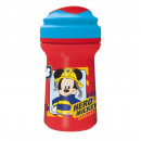 Premium toddler glass with lid 310ml by Mickey Mou