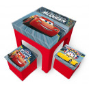 Table and 2 folding stool stools by de Cars