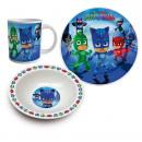 Set da colazione in ceramica da 3 pezzi di Pj Mask