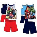 Großhandel Nachtwäsche: Ärmelloser  Pyjama-Volldruck von Avengers