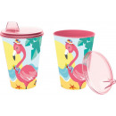 Glass with sipper easy 430ml of collection Flamenc