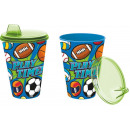 Glass with sipper easy 430ml from Sports collectio