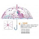 grossiste Bagages et articles de voyage: Parapluie unisexe 42cm transparent manuel Unicorn