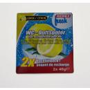 REINEX FRESH toilet scent refill Lemon 2 x 40