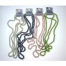 wholesale Necklaces: Pearl necklace long 64 cm pink, white, gray, green
