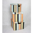 Storage box set 'Wigge' 3 pieces with cove