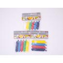 Clips de fermeture REINEX PACK 8 x 5, 5 cm, 8 x 7