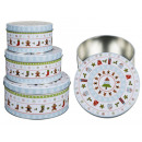 hurtownia Dom & Kuchnia: Metalowe bombki świąteczne Motywy świąteczne 3er -