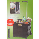 wholesale Suitcases & Trolleys: Shopping trolley - black foldable