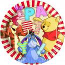 wholesale Party Items: Pooh 8 paper plates 23 cm