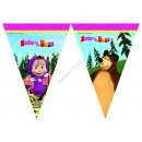 wholesale Party Items: Masha and the Bear Triangle flag banner (9 flags)