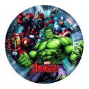 Avengers 8 Platos de cartón 20cm