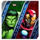 Avengers 20 Servilletas De Papel 33x33cm