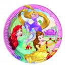 mayorista Articulos de fiesta: Princesas 8 Platos de cartón 23cm