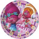 mayorista Articulos de fiesta: Trolls 8 Platos de cartón 23cm