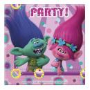 Großhandel Partyartikel: Trolls 20 Papier Servietten 33x33cm