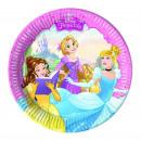 mayorista Articulos de fiesta: Princesas 8 Platos de cartón 20cm