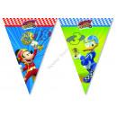 Großhandel Partyartikel: Mickey Wimpelkette (9 Flaggen)