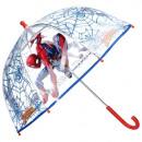 Großhandel Regenschirme: Spiderman Regenschirm transparent
