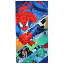 Spiderman sammet strandtuch