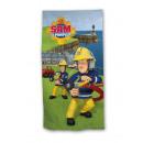 Fireman Sam Beach towel action