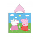 Peppa Pig & Suzy Sheep Hooded poncho